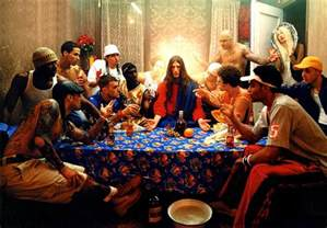 Passover Table Settings - last supper by david lachapelle guy hepner