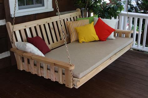 swing beds for sale cedar traditional english swing bed by dutchcrafters amish