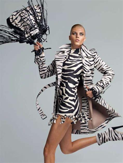 zebra pattern fashion prancing zebra print editorials blumarine fall 2010 caign