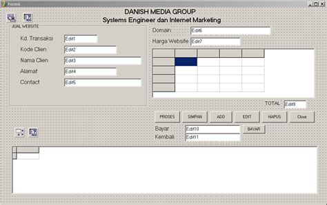 jual tutorial delphi pembuatan program lengkap di delphi danish f