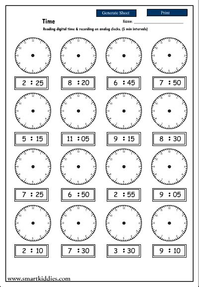 Analog Clock Practice Worksheets by Printables Digital Clock Worksheets Ronleyba Worksheets