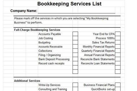 for bookkeeping services template plan a bookkeeping business from home with great name