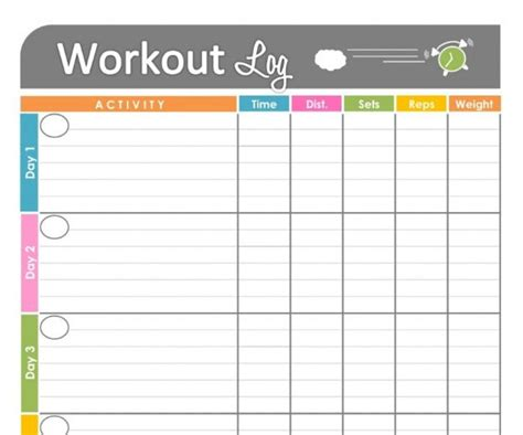 personal trainer workout template personal workout log template workouts log