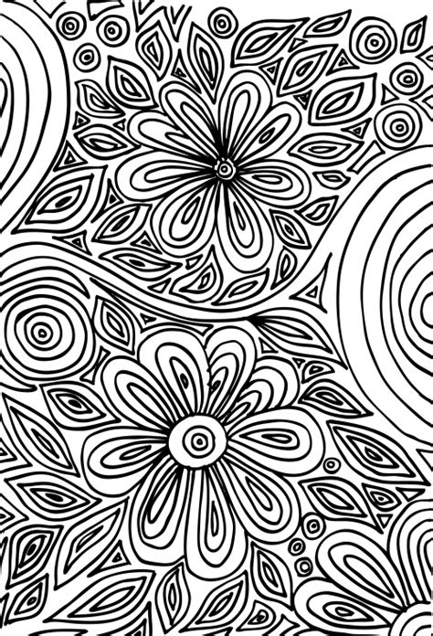 coloring pages for therapy doodle coloring page flowers art therapy flower art