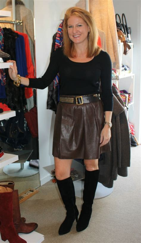 lady biker wear over 50 leather skirts add an edge to over 40 fashion