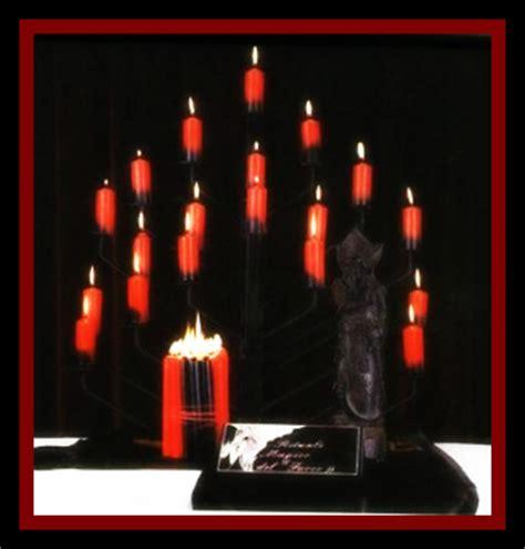 candele nere candele nere e rosse