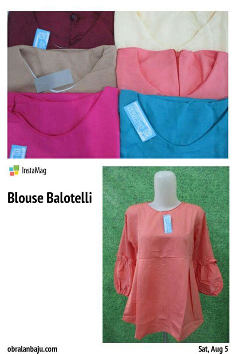 Pusat Grosir Baju Cozy Blouse Balotelly blouse balotelli pusat grosir baju pakaian murah meriah