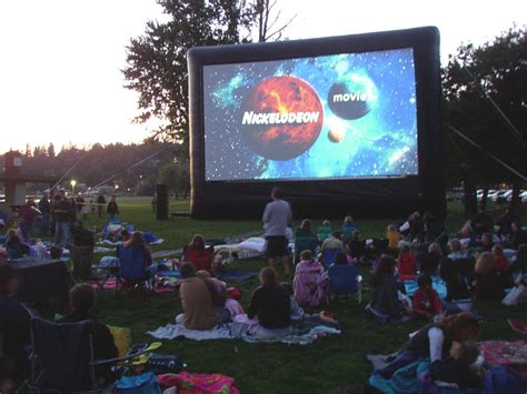 backyard movie screen columbus inflatable outdoor movie screen rental