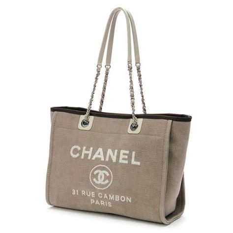 Chanel Deaville Shopping Tote Bag Vl971 chanel beige canvas deauville shopping tote handbag