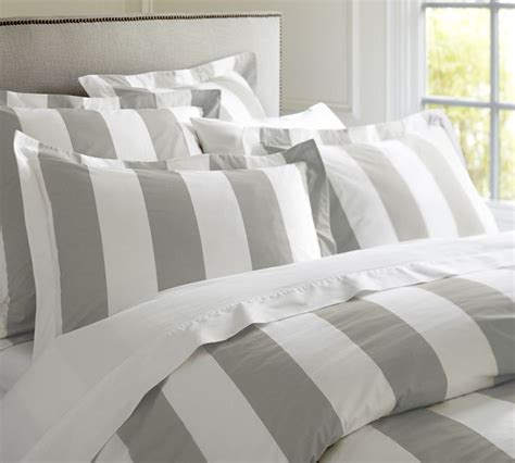 gray and white striped comforter design trend stripes a little design help