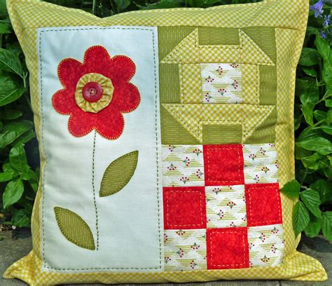 Patchwork Cushions Patterns - beginners patchwork cushion pattern blooming marvellous