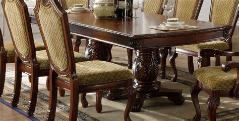 Napa Valley Dark Cherry Rectangular Double Pedestals Napa Dining Table