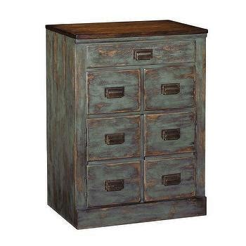 Distressed Black Lateral File Cabinet