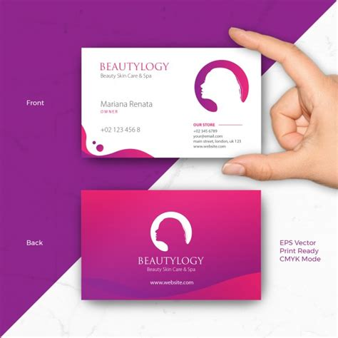 cosmetic business card templates free skin care business cards images business card template