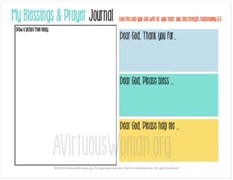 printable children s prayer journal free printable blessings and prayer journal for kids a