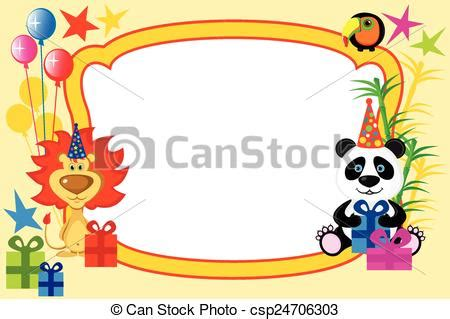 cornice cartone cornice animali cartone animato