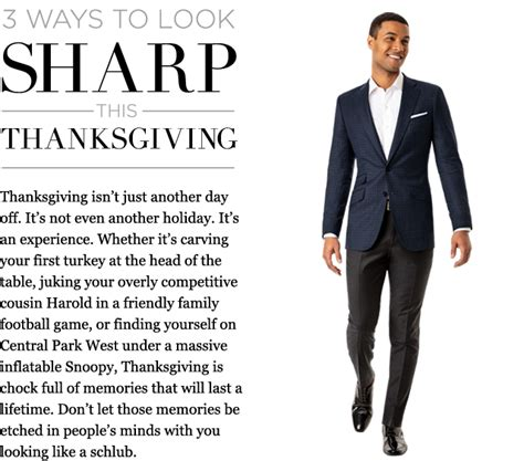 Looks Sharp by Three Ways To Look Sharp This Thanksgiving The Compass