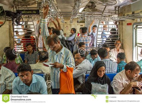 Unidentified Passengers Inside Indian Railway In Mumbai ...