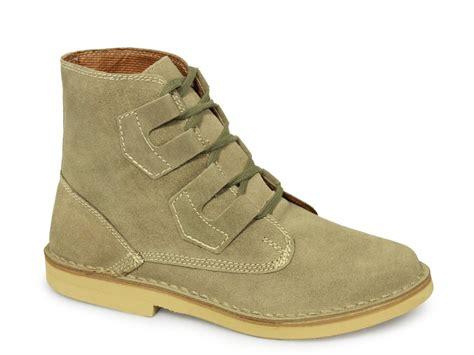 desert boots roamers mens ghillie tie ankle desert boots taupe