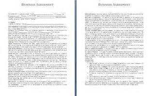 business agreements templates business agreement template free agreement and contract