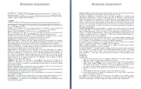 enterprise agreement template business contract template free free business template
