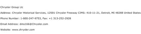 Chrysler Address by Chrysler Llc Address Contact Number Of Chrysler