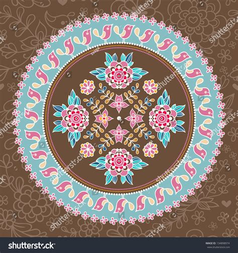 indian ornaments and design elements vector ornamental round lace ethnic seamless pattern floral