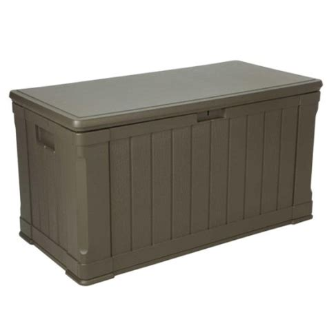 outdoor bench storage box lifetime outdoor 116 gallon deck storage box and bench