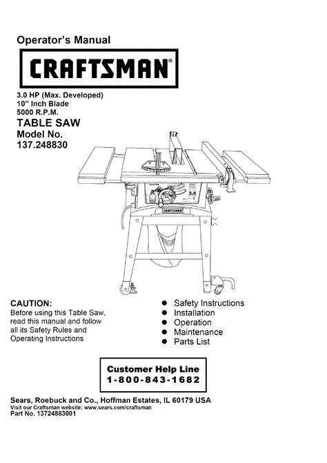 craftsman 137 table 10 craftsman table saw 3 0 wiring diagram 41 wiring