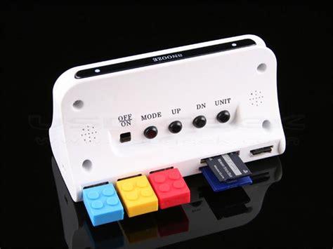 thermo alarm clock  usb hub  card reader gadgetsin