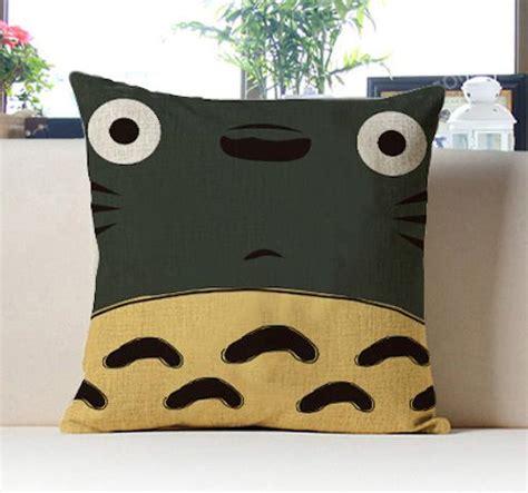 totoro home decor 45cm japan cartoon totoro linen cushion cover pillow case