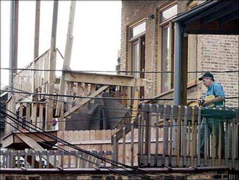 Chicago Apartment Collapse Chicago Porch Collapse Photo 2 Pictures Cbs News