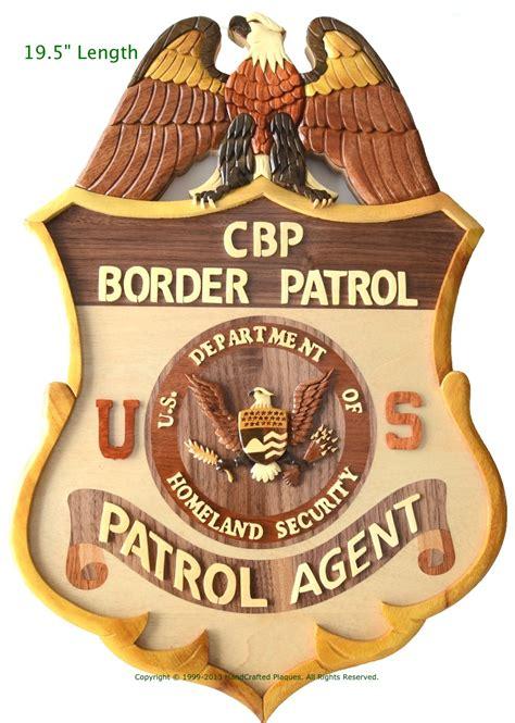 border patrol badge logo u s border patrol badge wooden plaque