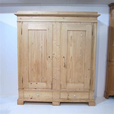 large 19th century pine shelved wardrobe 467566