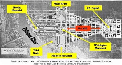 washington dc city layout map symbolism of washington dc excerpt