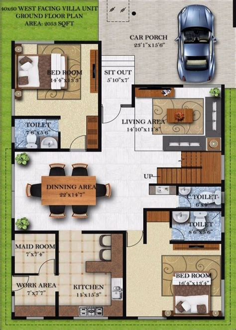 home design 40 60 60 40 house plan house plans