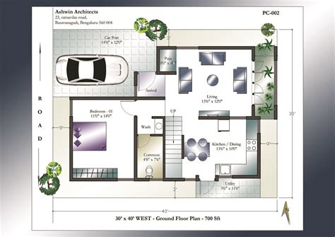 building a home floor plans 30 x 40 house plans 30 x 40 west facing house plans