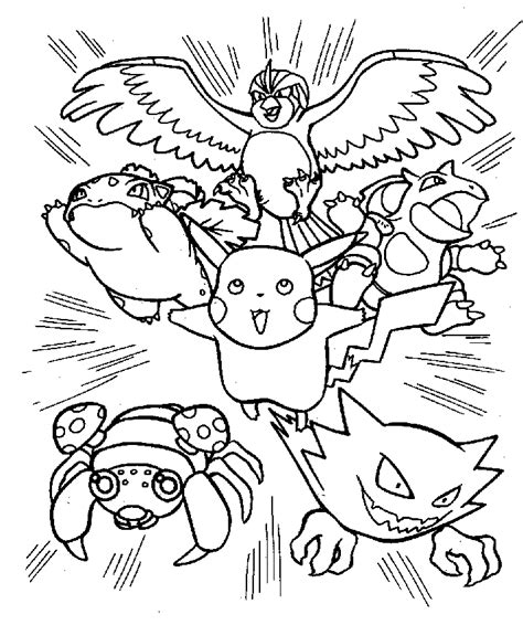 printable coloring pages of pokemon black and white pokemon coloring pages 6 coloring kids