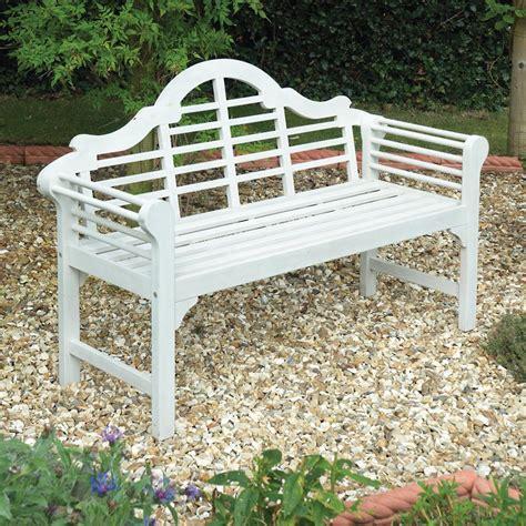 lutyens garden benches gablemere lutyens white garden bench internet gardener