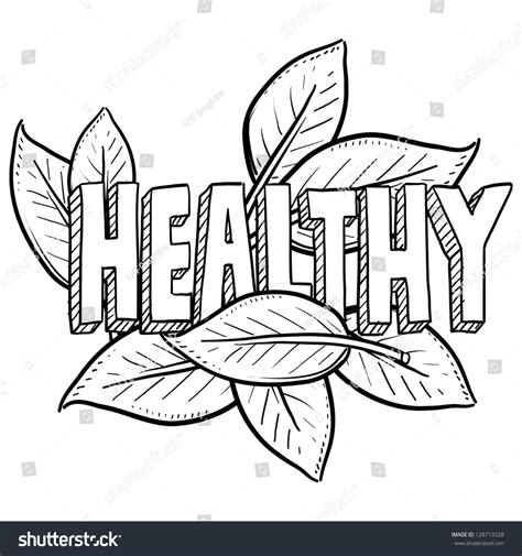 doodle lifestyle doodle style healthy food agriculture lifestyle stock