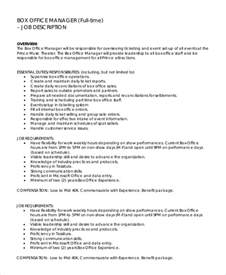 Office Manager Description Template by Sle Office Manager Description 9 Exles In Pdf