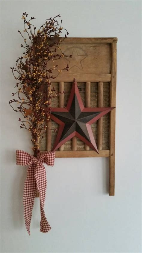 cross wreath country home decor black and gold wooden rustic primitive vintage washboard decor