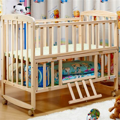 baby bed wood paint crib concentretor bb baby bed