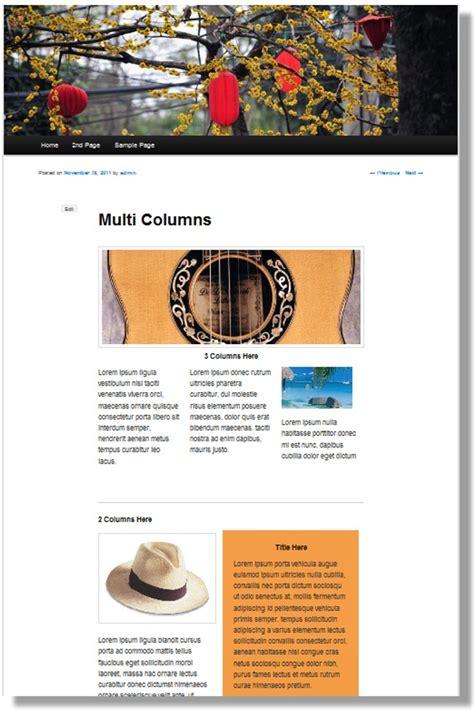 column layout wordpress plugin turn your free theme into a premium design wordpress
