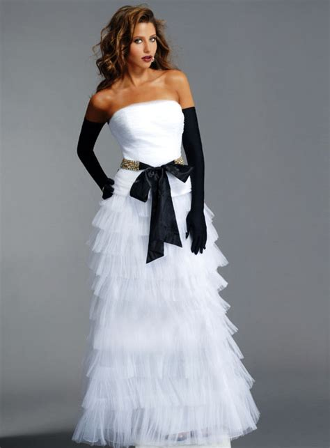 one stop wedding black and white wedding dress