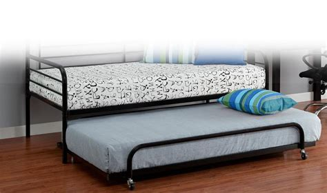 Kids Trundle Bed Frame Only Twin Bunk Sleeper Roll Out Trundle Bed Frames Only