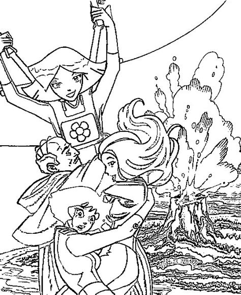 Coloring Page 12 Spies by Totally Spies Coloring Pages Coloringpages1001