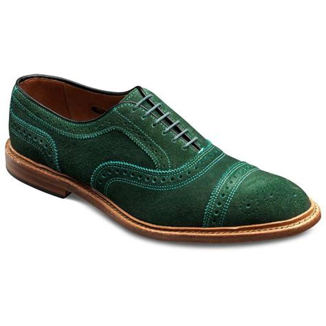 Special Edition WebGem   Green Suede Strand   Cap toe Lace