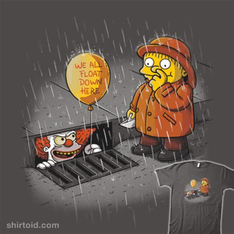 The Simpsons Stephen King It Pennywise we all float here shirtoid