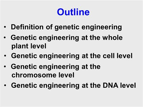 Outline Definition by Definition Of Genetic Engineering Best Image Ficcio Net